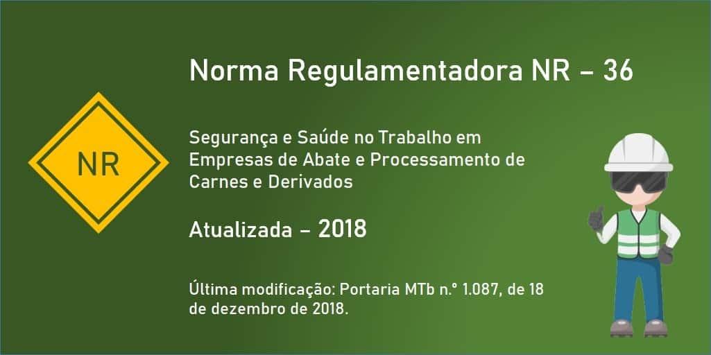 Norma Regulamentadora NR-36 - Segurança e Saúde no Trabalho em Empresas de Abate e Processamento de Carnes e Derivados
